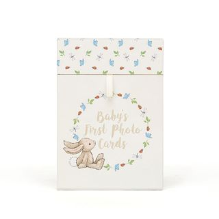 Jellycat Bashful Bunny Baby's First Photo Cards