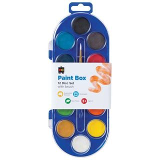 Paint Box- 12 Disc Set with Brush