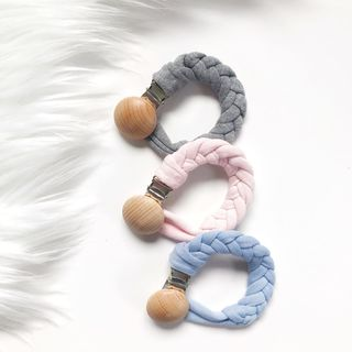 Pacifier Clips - Pink | Grey | Blue