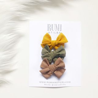 Bow Clips: Mustard | Olive | Rust