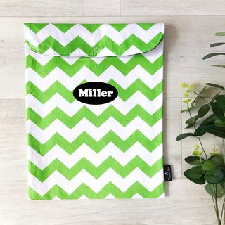 SECONDS Lime Green Chevron