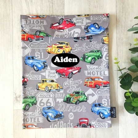 Vintage Cars on Grey (Homework Bag)