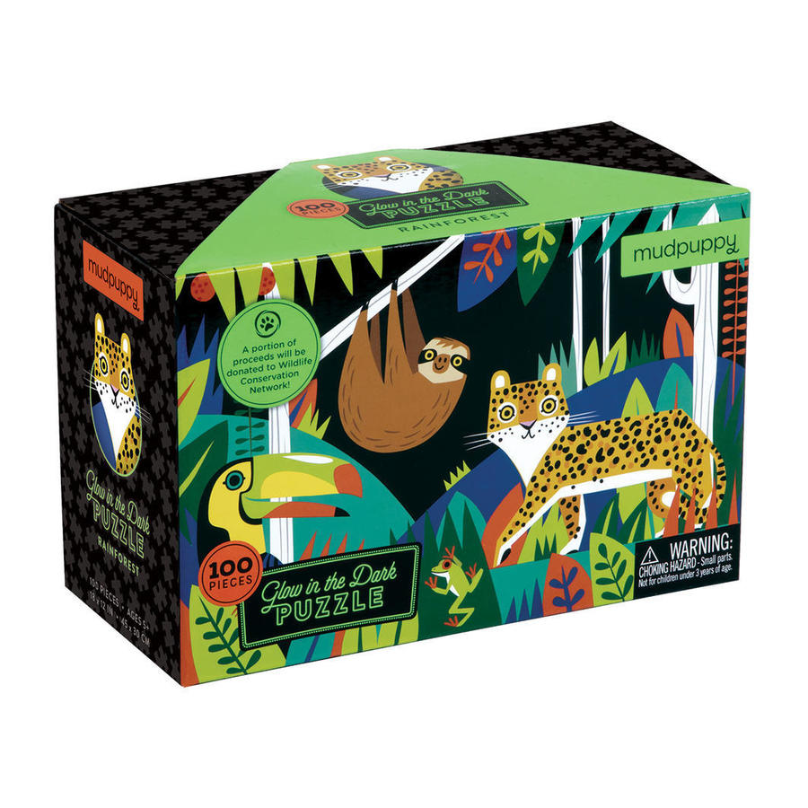 Rainforest Glow in the Dark Puzzle 100pcs