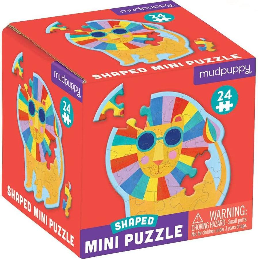 Rainbow Lion Shaped Mini-Puzzle, 24pcs