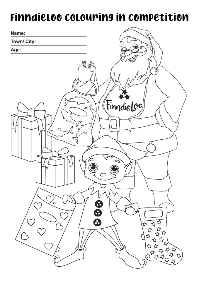 Christmas Colouring In | FinndieLoo