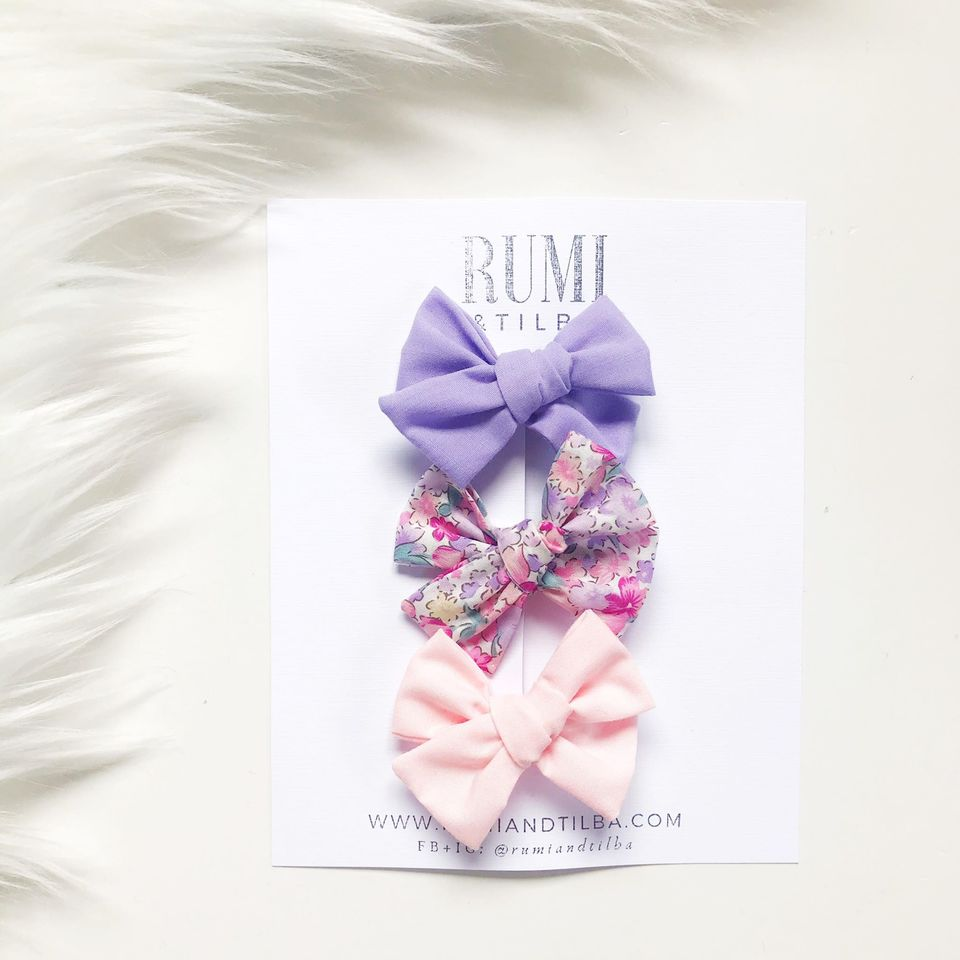 Bow Clips: Lilac | Spring Bouquet | Baby Pink